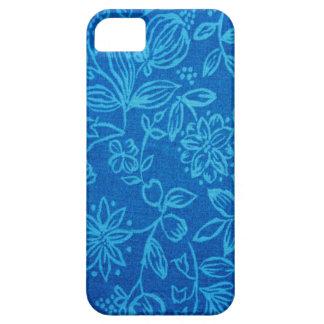 青い花のiphone 5の箱 iPhone SE/5/5s ケース