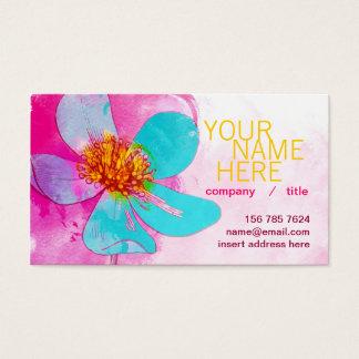 青い花びらのプロフィールカード 名刺