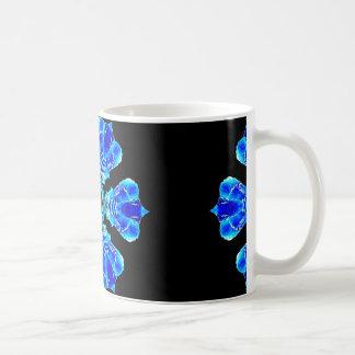 青い花びら コーヒーマグカップ