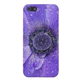 青い花をloveか。 iPhone 5 カバー