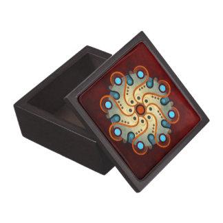 青い花柄の抽象芸術のベクトル芸術の優れたギフト用の箱 ギフトボックス