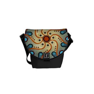 青い花柄の抽象芸術のベクトルArttの小型バッグ クーリエバッグ