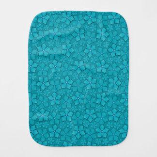 青い花模様 バーブクロス