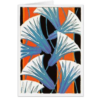 青い花Deco グリーティングカード