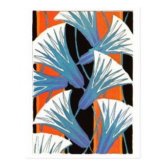 青い花Deco ポストカード