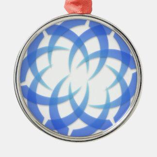 青い芸術 メタルオーナメント