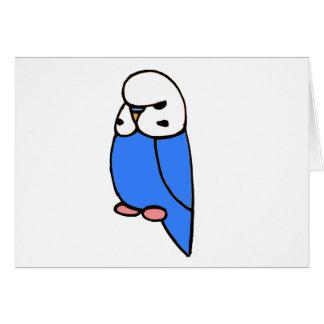 青い英語Budgie カード