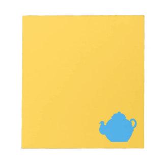 青い茶ポット ノートパッド