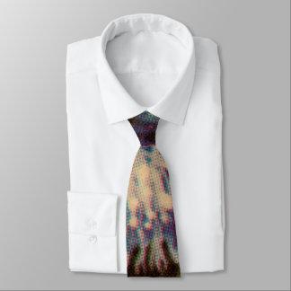 青い菊 ネクタイ
