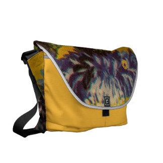 青い菊 メッセンジャーバッグ