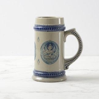 青い菩薩の醸造物 ビールジョッキ