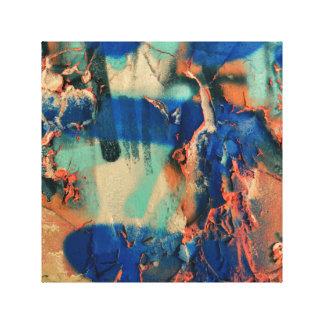 青い落書きのキャンバスの芸術の抽象芸術 キャンバスプリント