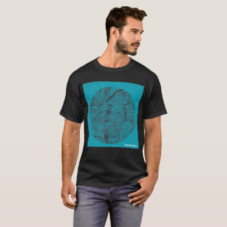 青い落書き Tシャツ
