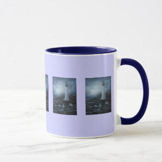 青い薄暗がりの夢のマグ マグカップ