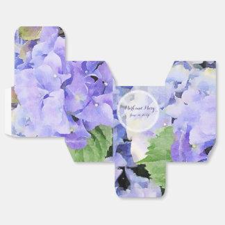 青い薄紫のカスタムな結婚式のアジサイ フェイバーボックス