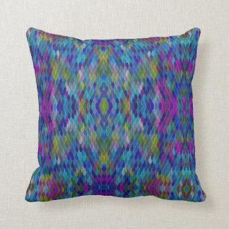 青い虹の魔法の人魚のスケールの枕 クッション