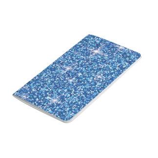 青い虹色のグリッター ポケットジャーナル