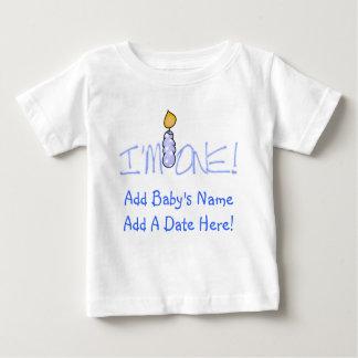 青い蝋燭私は1枚のカスタマイズ可能なベビーのTシャツです ベビーTシャツ