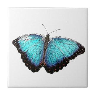 青い蝶スケッチ タイル
