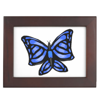 青い蝶デザイン ジュエリーボックス