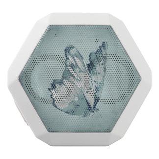 青い蝶ヴィンテージのビクトリアンでグランジな自然 ホワイトBluetoothスピーカー