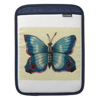 青い蝶人力車の袖 iPadスリーブ