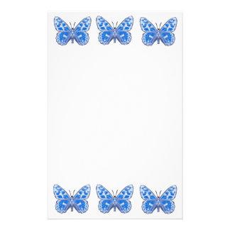 青い蝶文房具 便箋