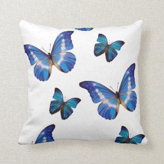 青い蝶装飾用クッション クッション