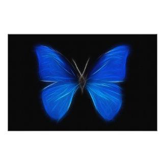 青い蝶飛んでいるな昆虫 便箋