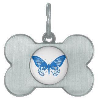 青い蝶 ペットネームタグ