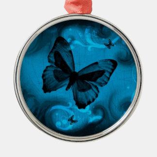 青い蝶 メタルオーナメント