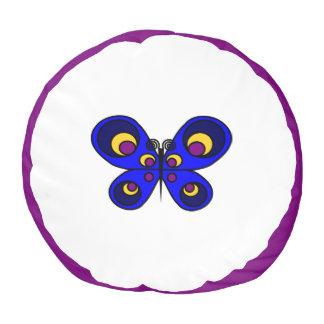 青い蝶Poufの枕 プーフ