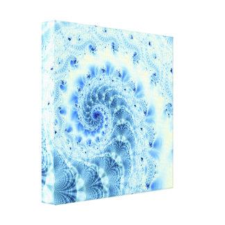 青い螺線形のキャンバス キャンバスプリント