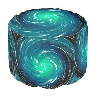 青い螺線形の抽象芸術の背景 プーフ