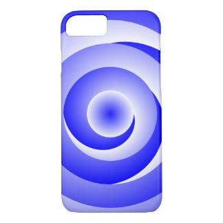 青い螺線形の錯覚 iPhone 8/7ケース