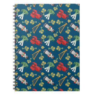 青い螺線形ノートのおもしろいのウェールズの紋章 ノートブック