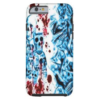 青い血のスカルのiPhone 6の箱 iPhone 6 タフケース