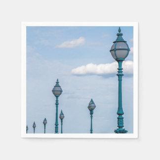 青い街灯柱 スタンダードカクテルナプキン