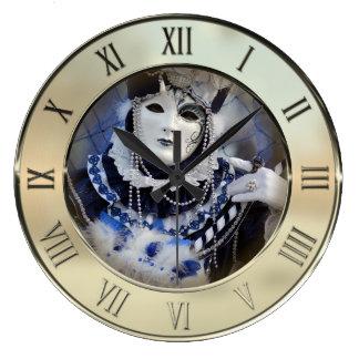 青い衣裳 ラージ壁時計