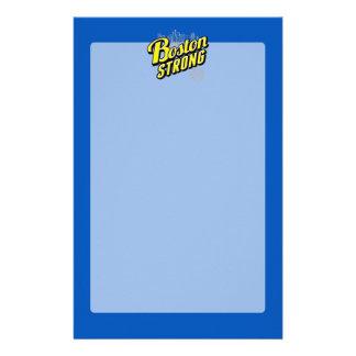 青い装飾で強いボストン 便箋