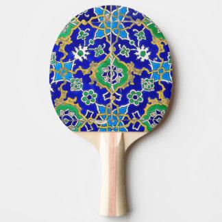 青い装飾用のモザイク模様 卓球ラケット
