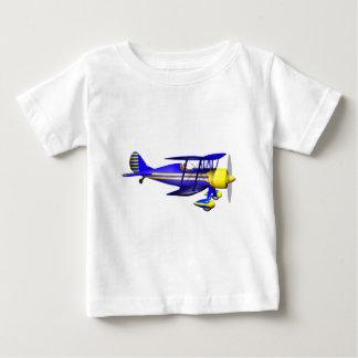 青い複葉機 ベビーTシャツ