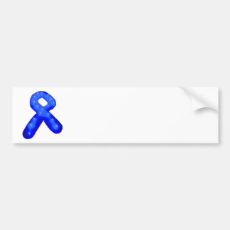 青い認識度のリボンの蝋燭 バンパーステッカー