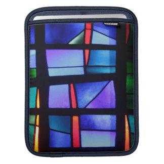青い調子および形の多彩なコラージュ iPadスリーブ