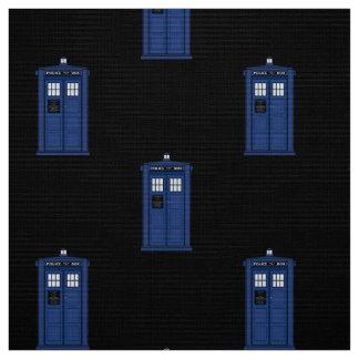 青い警察箱の生地のイギリスの空想科学小説 ファブリック