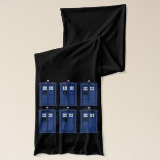 青い警察箱の長いオタクのスカーフ スカーフ