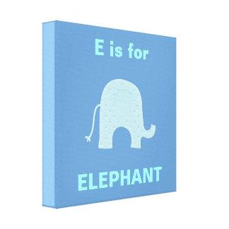 青い象のキャンバス キャンバスプリント