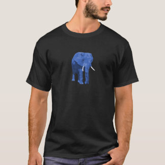 青い象の低い多芸術 Tシャツ
