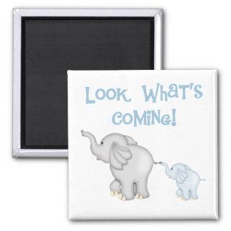 青い象の妊娠 マグネット