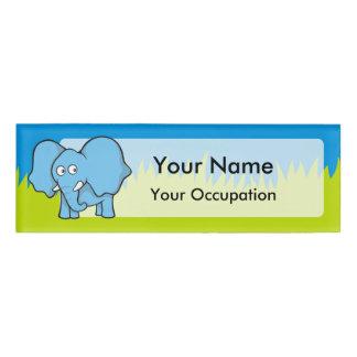 青い象の漫画 名札